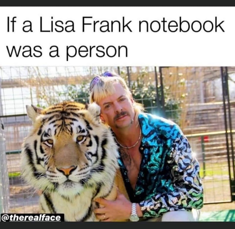Bengal tiger - If a Lisa Frank notebook was a person @therealface