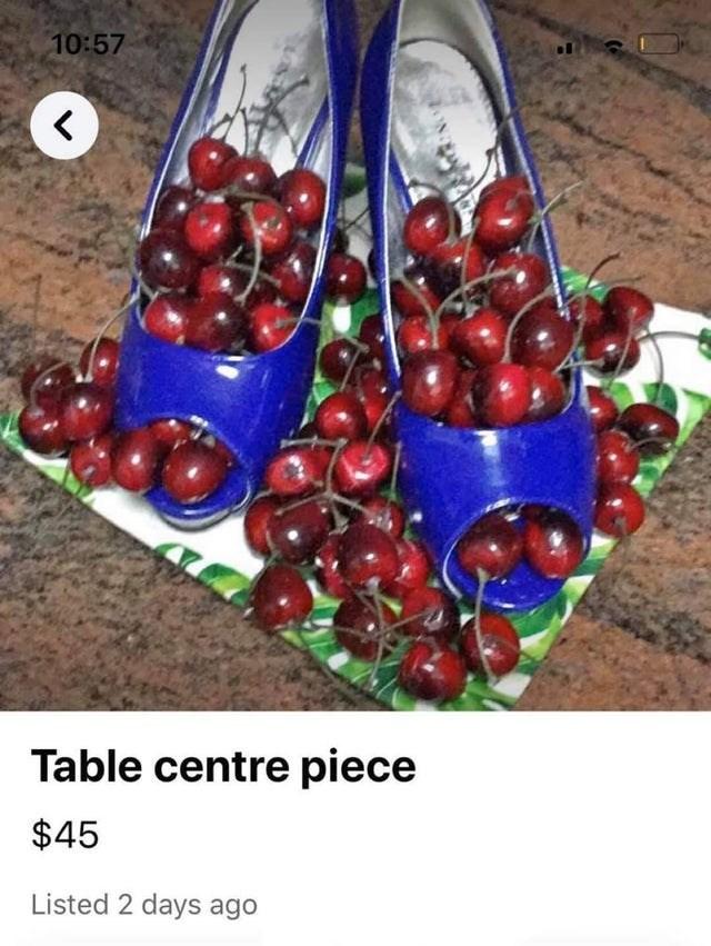 Cherry - 10:57 Table centre piece $45 Listed 2 days ago