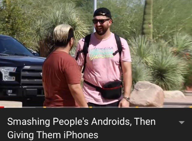 Car - Smashing People's Androids, Then Giving Them iPhones