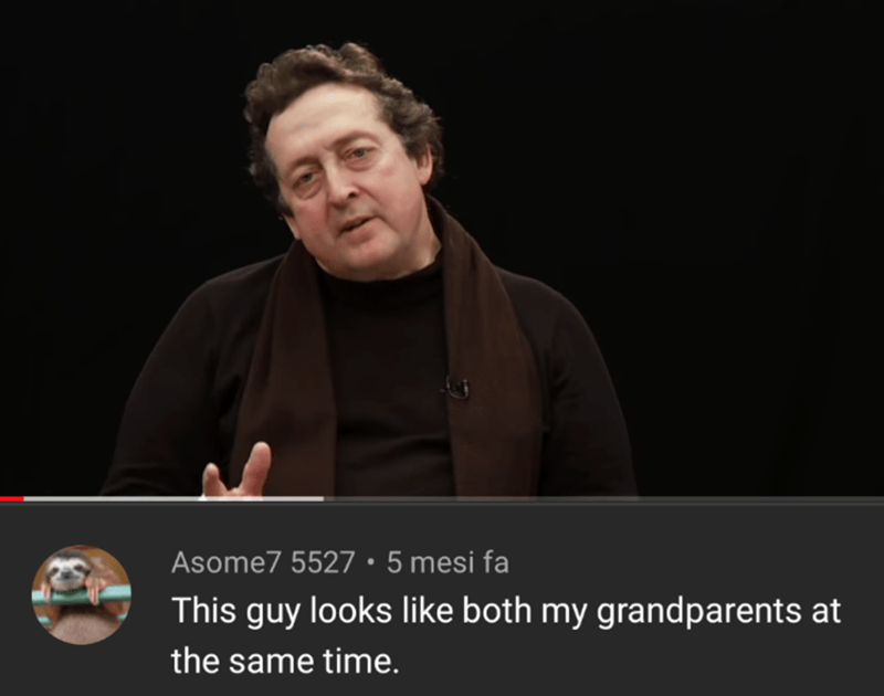 Text - Asome7 5527 • 5 mesi fa This guy looks like both my grandparents at the same time.