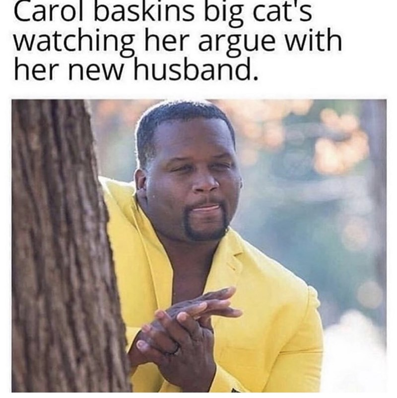 Text - Carol baskins big cat's watching her arğue with her new husband.