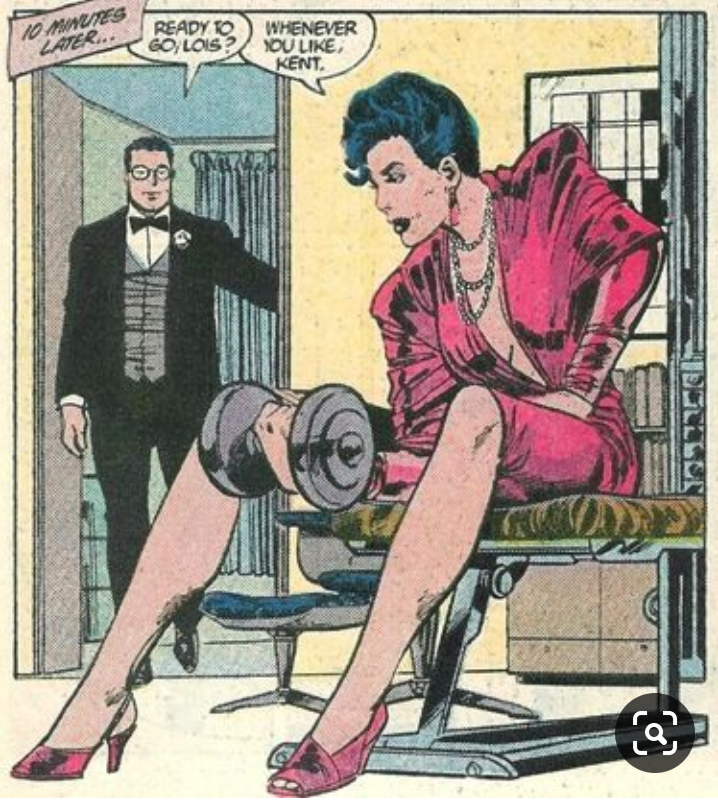 Cartoon - 10 MINUTES LATER... READY TO GO, LOIS? WHENEVER OU LIKE, KENT.