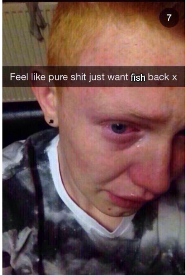 Face - 7 Feel like pure shit just want fish back x