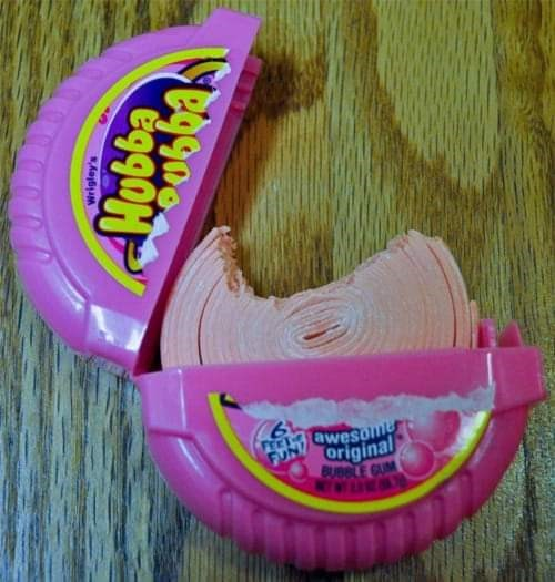 Pink - awesome original BUBBLE GUM KWARA Wrigley's Mobba