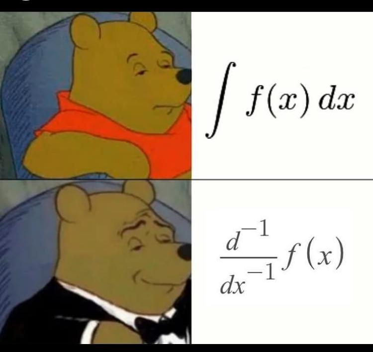 Cartoon - f (x) dx d f (x) -1 dx