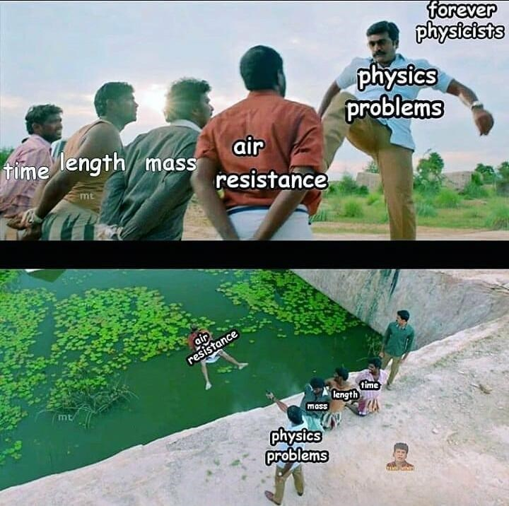 Adaptation - forever physicists physics problems fime air length mass resistance mt air resistance time length mt mass physics problems
