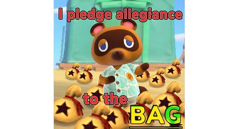 Animated cartoon - I pledge allegiance to the BAG @dontanimalcrossme