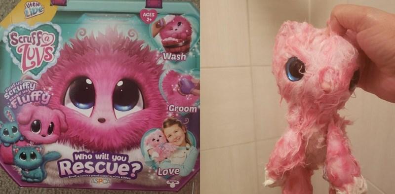 Pink - Uetie LIDE AGES 2+ Scruf fo Wash Find us SCrufny Fluff Make us Groom Who will yoU Rescue? Love Suru L laa prou uorterofme ASPCA ASPCA