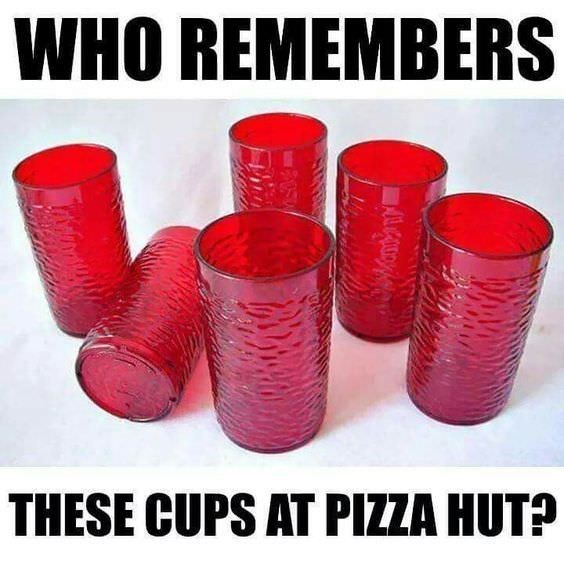 Red - WHO REMEMBERS THESE CUPS AT PIZZA HUT?
