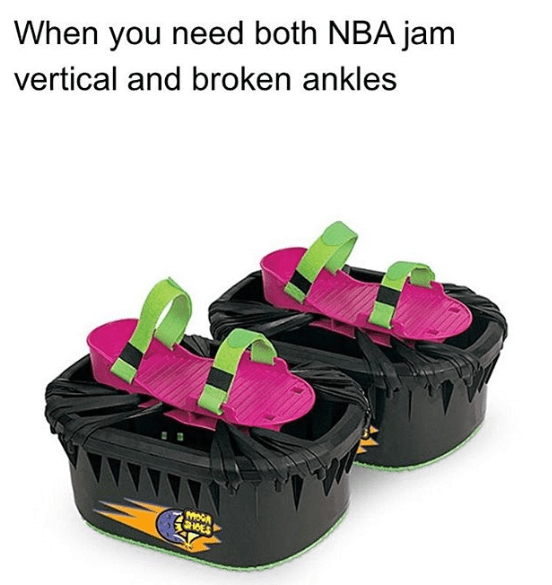 Product - When you need both NBA jam vertical and broken ankles