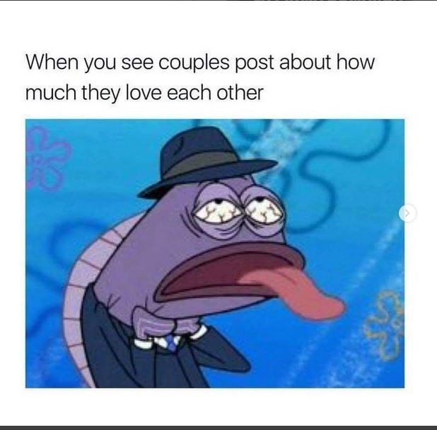 Cartoon - When you see couples post about how much they love each other