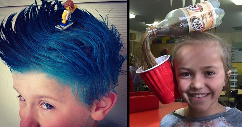 Funny pics of kids with creative hairstyles