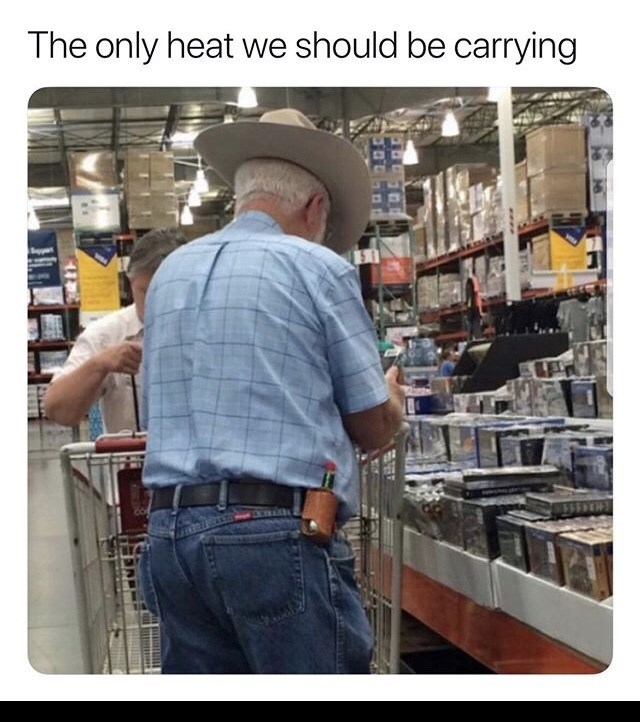 Funny random memes - Headgear - The only heat we should be carrying