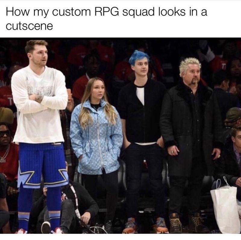 Team - How my custom RPG squad looks in a cutscene