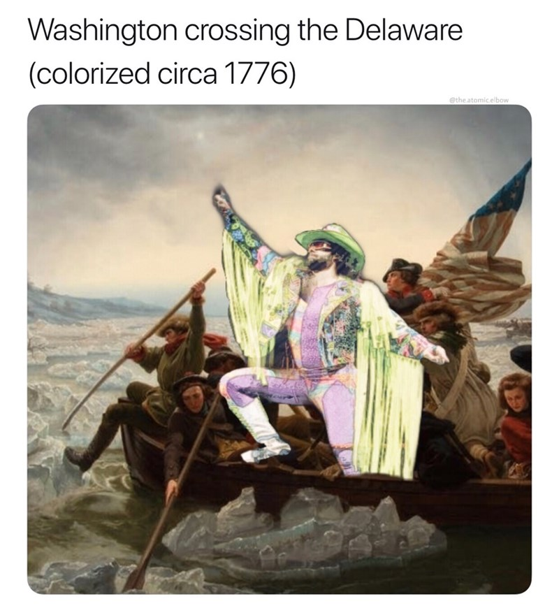 Stock photography - Washington crossing the Delaware (colorized circa 1776) @the.atomic.elbow