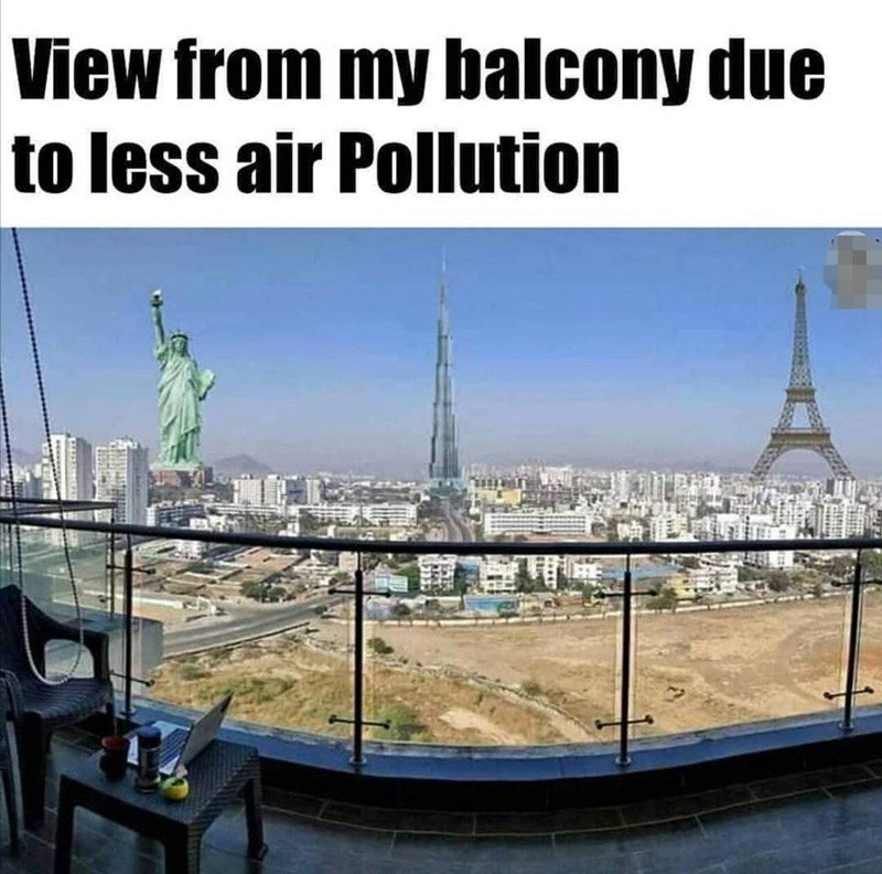 Landmark - View from my balcony due to less air Pollution