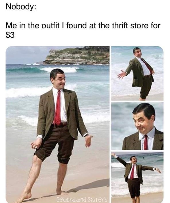 Suit - Nobody: Me in the outfit I found at the thrift store for $3 secondhand Sis+ers