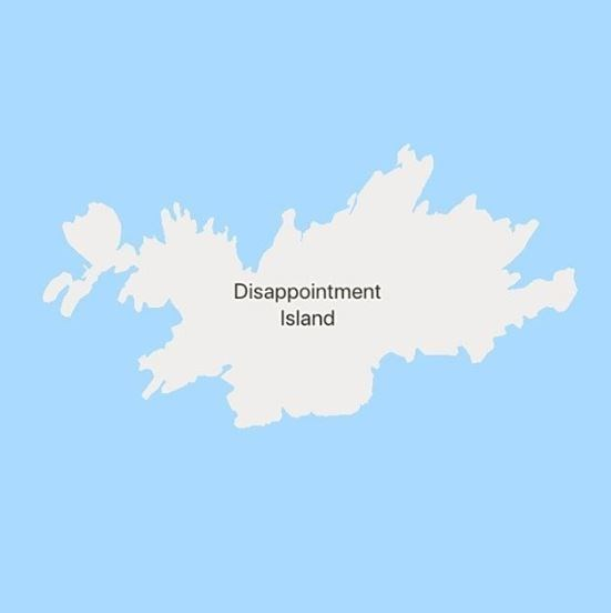 Map - Disappointment Island