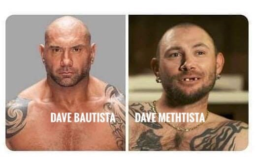 Facial hair - DAVE BAUTISTA DAVE METHTISTA