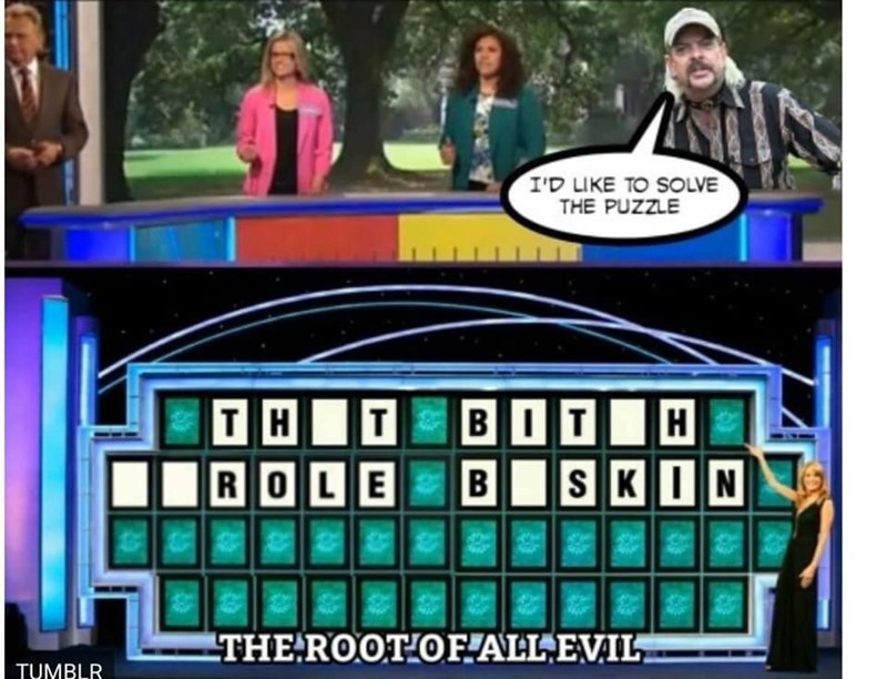Games - I'D LIKE TO SOLVE THE PUZZLE т H В От BIT| ROLE SKIN the THE ROOT OF.ALL,EVIL. TUMBLR
