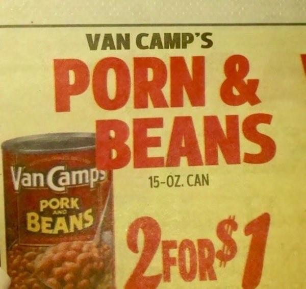 Food - VAN CAMP'S PORN & BEANS Van Camp 15-0Z. CAN PORK BEANS 2FOR$7
