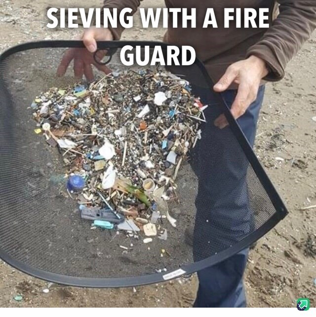 Text - Soil - SIEVING WITH A FIRE GUARD