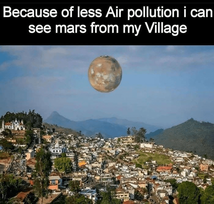 Nature - Because of less Air pollution i can see mars from my Village