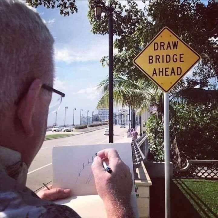 Sky - DRAW BRIDGE AHEAD