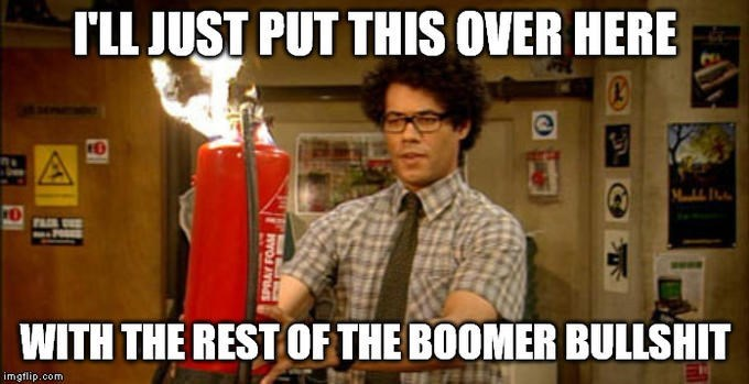 Fire extinguisher - I'LL JUST PUT THIS OVER HERE 10 FASR SSE -POSES WITH THE REST OF THE BOOMER BULLSHIT imgflip.com 4819 SPRAY FOAM