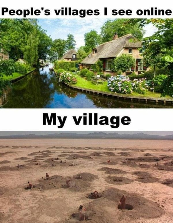 Water resources - People's villages I see online My village