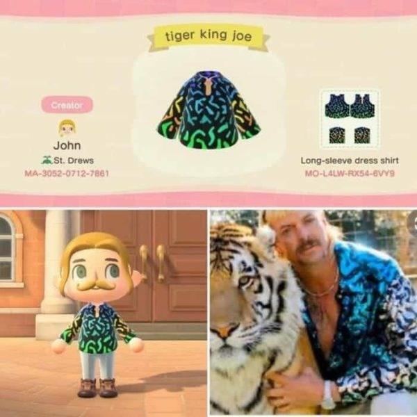 Organism - tiger king joe Creator John ASt. Drews Long-sleeve dress shirt MA-3052-0712-7861 MO-LALW-ROKS4-BvY9