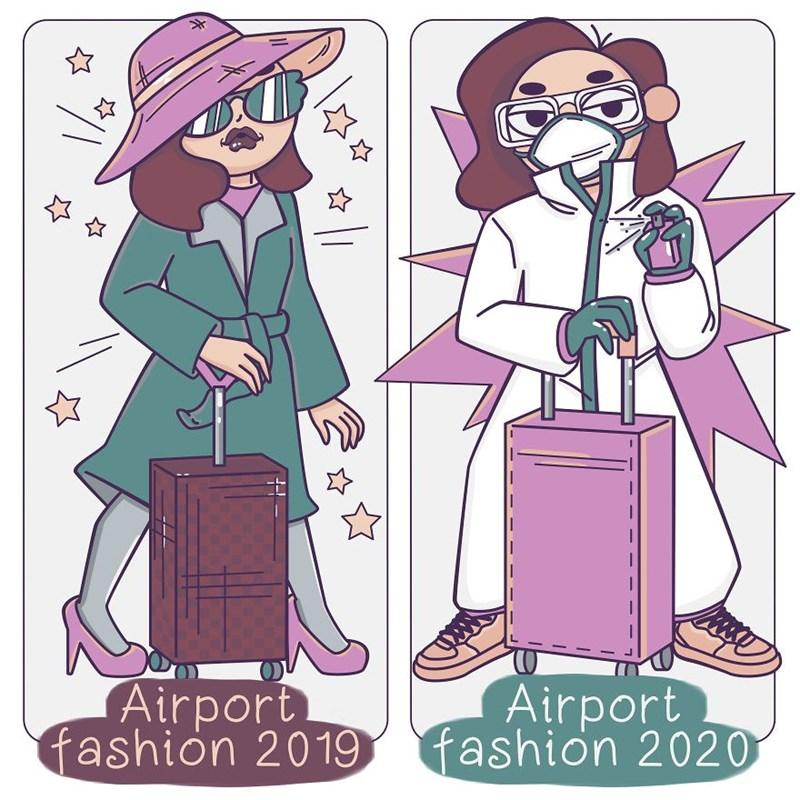 Cartoon - Airport fashion 2019 Airport fashion 2020