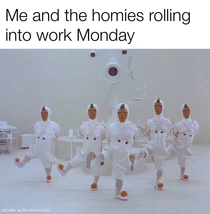 Sports - Me and the homies rolling into work Monday made with mematic