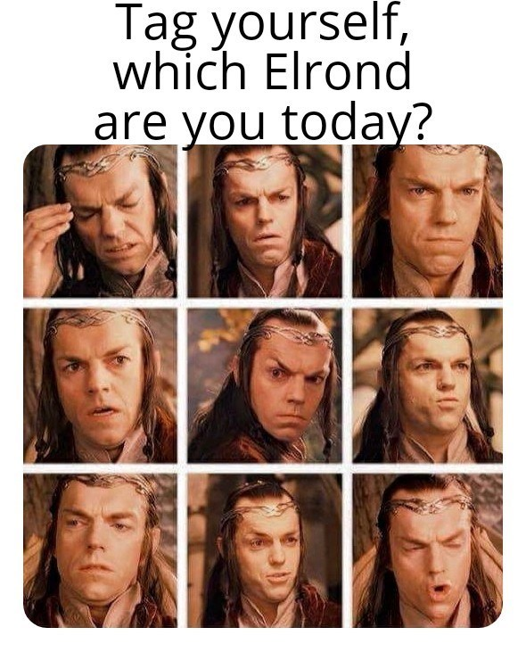 Face - Tag yourself, which Elrond are you today?