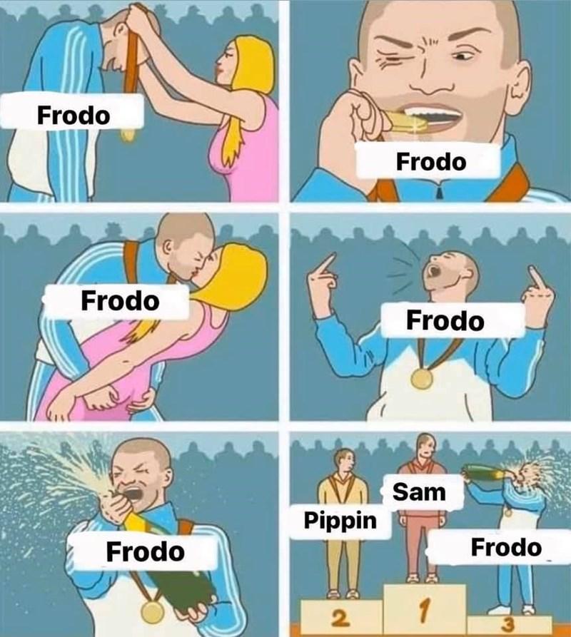 Cartoon - Frodo Frodo Frodo Frodo Sam Pippin Frodo Frodo