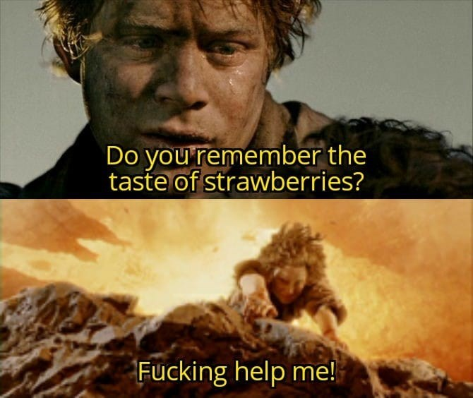 Movie - Do you'remember the taste of strawberries? Fucking help me!