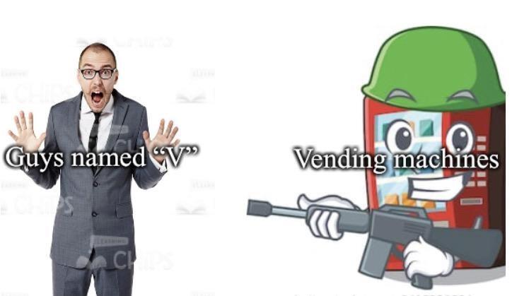 Cartoon - Guys named V Vending machines CH