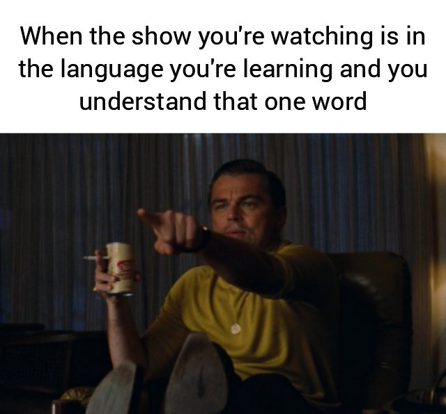 Text - When the show you're watching is in the language you're learning and you understand that one word