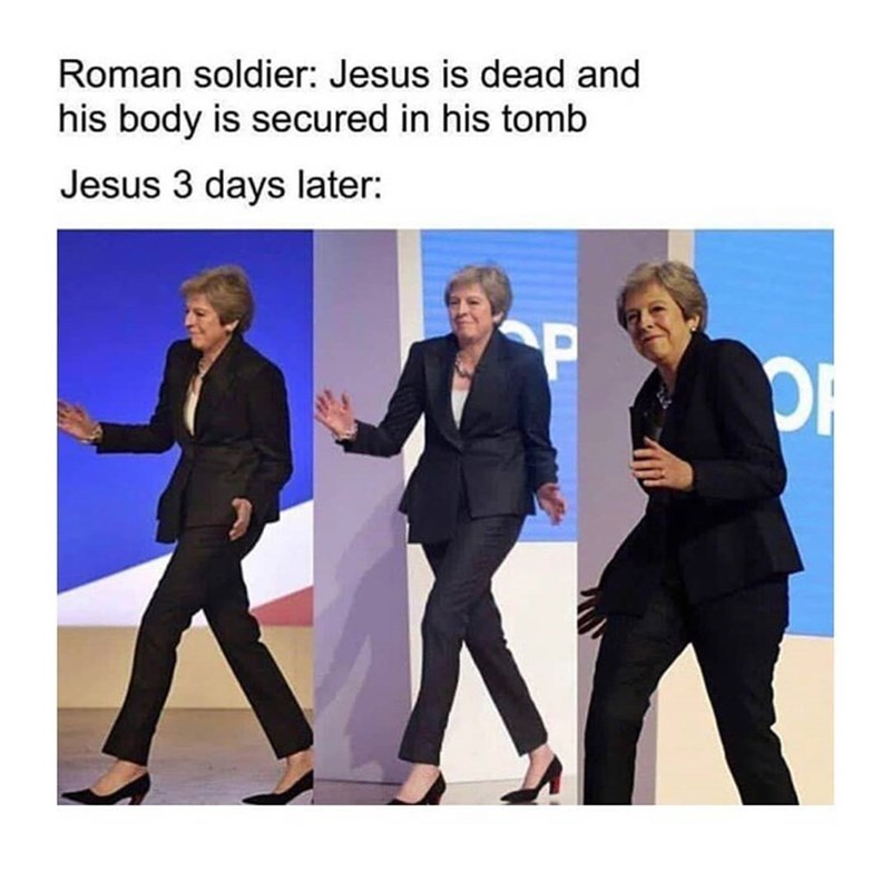 Product - Roman soldier: Jesus is dead and his body is secured in his tomb Jesus 3 days later: SP OR