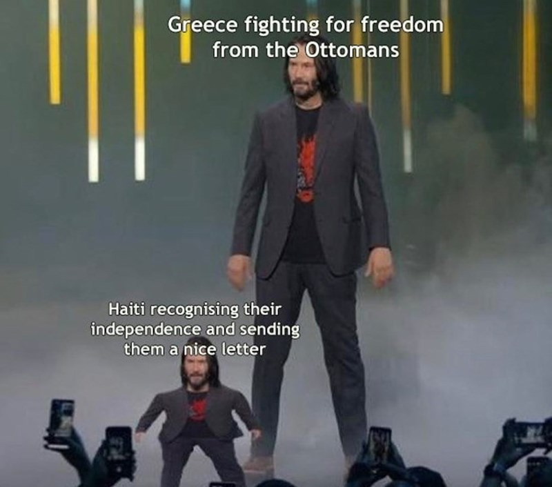 Album cover - Greece fighting for freedom from the Ottomans Haiti recognising their independence and sending them a nice letter