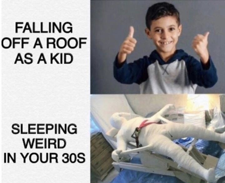Arm - FALLING OFF A ROOF AS A KID SLEEPING WEIRD IN YOUR 30S