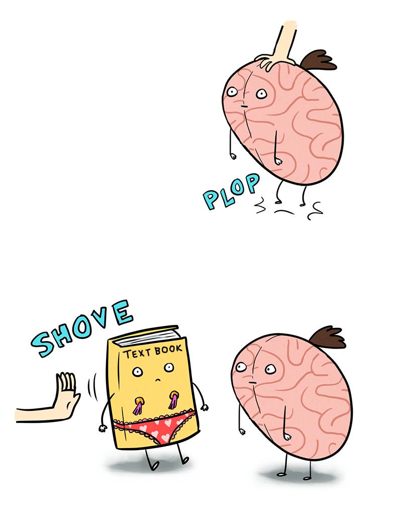 Cartoon - PLOP SHOVE TEXT BOOK