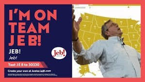 Font - I'M ON TEAM JE B! Jeb! JEB! Jeb! Text JEB to 30330 Create your owna Awatar eB.com