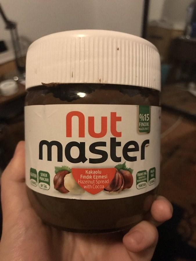 Food - Nut master %15 FINDIK HAZELNUT SEKER uPANCARI Kakaolu Findık Ezmesi Hazelnut Spread with Cocoa TRANS ING YOKTUR