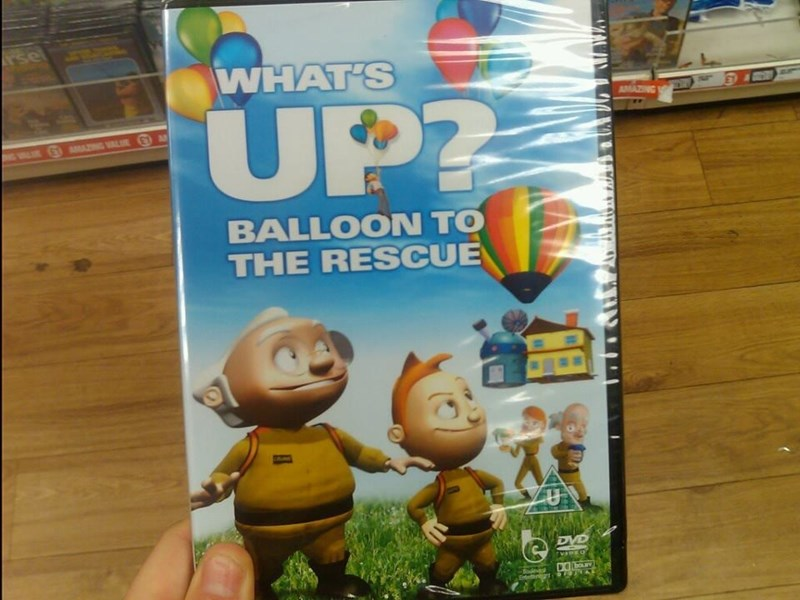 Technology - rsel WHAT'S UP AMAZING A0 G AMAZNG VALUE BALLOON TO THE RESCUE DVD Baeve Enten