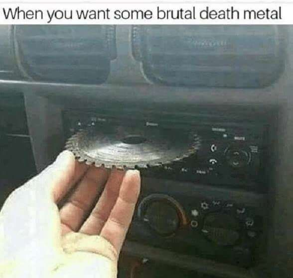 Vehicle door - When you want some brutal death metal