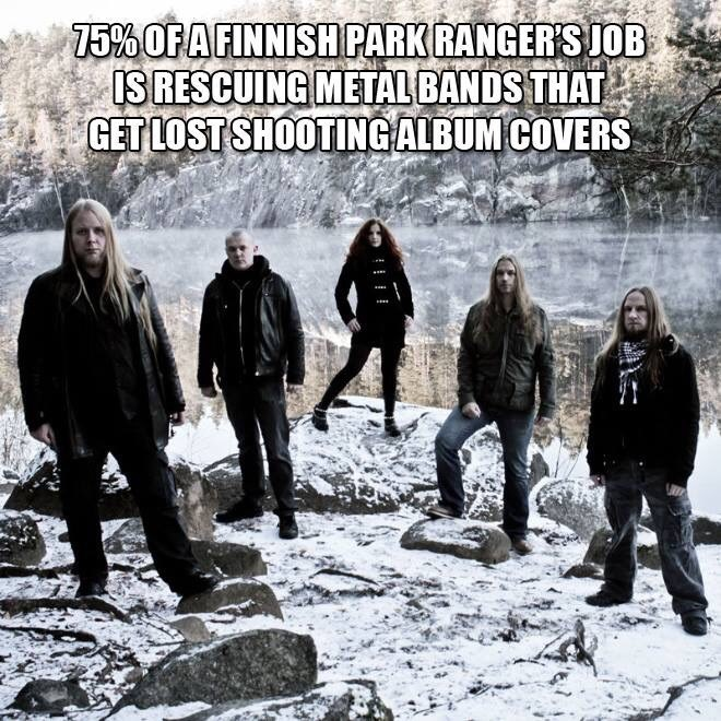 Font - 75% OFA FINNISH PARK RANGER'S JOB IS RESCUING METAL BANDS THAT GET LOST SHOOTINGALBUM COVERS