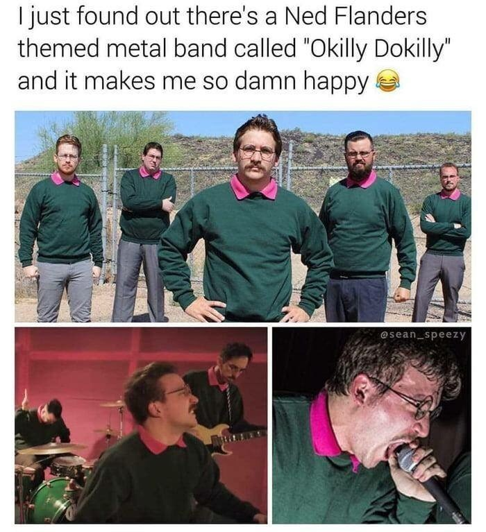 """Photography - I just found out there's a Ned Flanders themed metal band called """"Okilly Dokilly"""" and it makes me so damn happy @sean_speezy"""