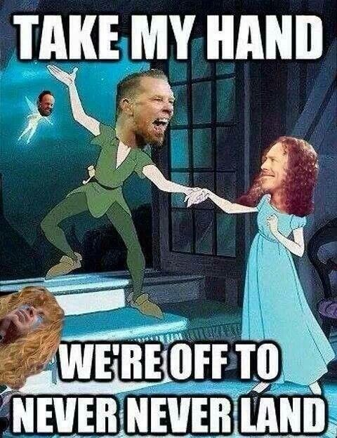 Cartoon - TAKE MY HAND WE'RE OFF TO NEVER NEVER LAND