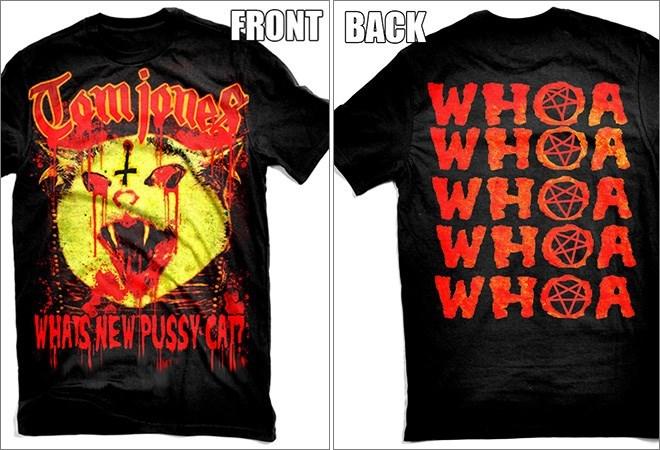 T-shirt - FRONT BACK WHOA WHOA WHOA WHOA WHOA WHATS NEW PUSSY CAT